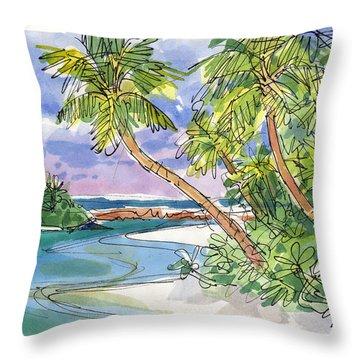 One-foot-island, Aitutaki Throw Pillow
