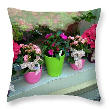 Throw Pillow featuring the photograph One For You - One For Me by Susanne Van Hulst