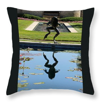 One Giant Leap Throw Pillow by Pamela Critchlow