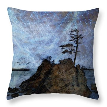One Grace Throw Pillow by Carol Leigh