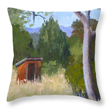 One Holer Throw Pillow
