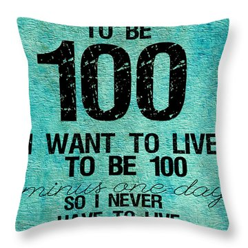 One Hundred Throw Pillow by Bonnie Bruno