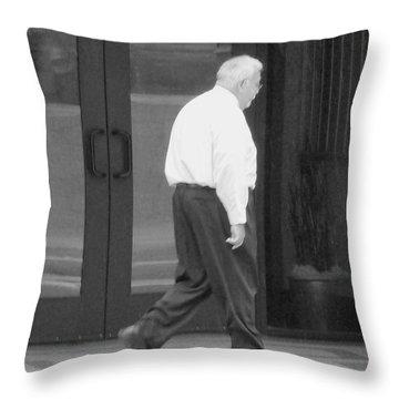 One In Light Rain Throw Pillow