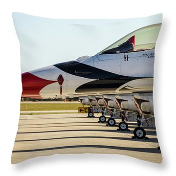 One Jet Or Seven Throw Pillow