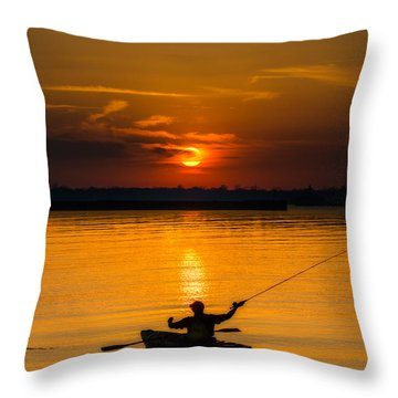 One Last Cast Throw Pillow