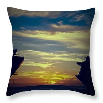 Throw Pillow featuring the photograph One Last Glimpse by DigiArt Diaries by Vicky B Fuller