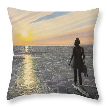 One Last Paddle Throw Pillow by Paul Newcastle