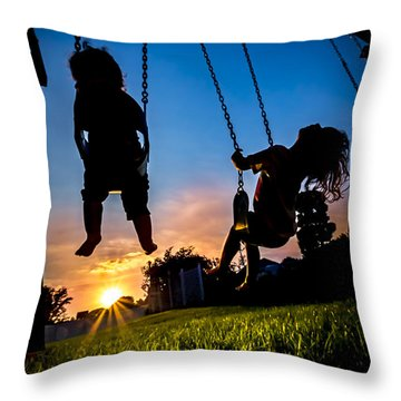 One Last Swing Throw Pillow