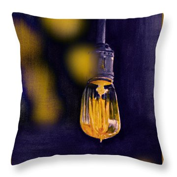 One Light Throw Pillow by Allison Ashton