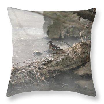 One Little Ducky Throw Pillow