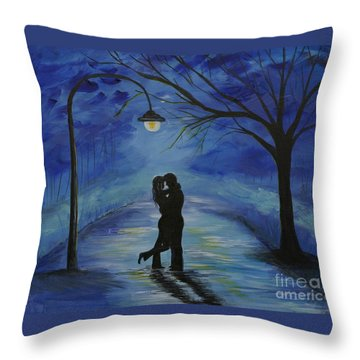 One Love One Lifetime Throw Pillow by Leslie Allen