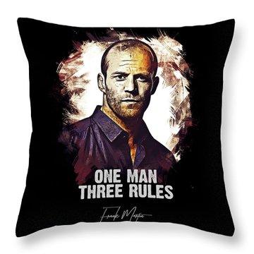 One Man Three Rules - Transporter Throw Pillow