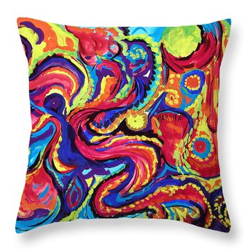 Birth Throw Pillow by Marina Petro