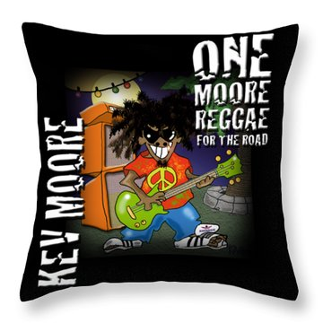 One Moore Reggae Throw Pillow