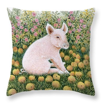One More Apple Throw Pillow