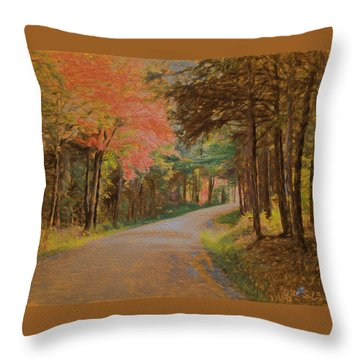 One More Country Road Throw Pillow