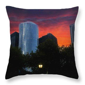 One New York Center-1 Throw Pillow