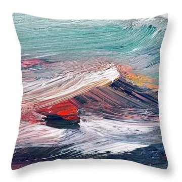 Wave Mountain Throw Pillow