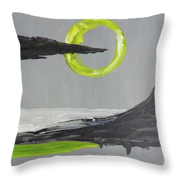 Throw Pillow featuring the painting One Of Those Days by Victoria Lakes