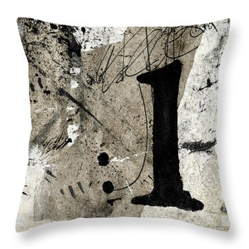 Throw Pillow featuring the mixed media One Off The Counter by Carol Leigh