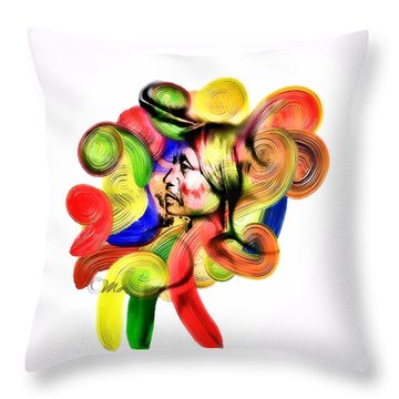 One Part 3 Throw Pillow by Mo T