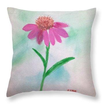 One Petal At A Time Throw Pillow