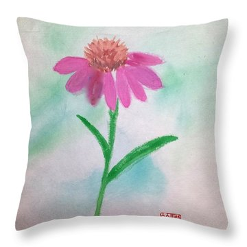 One Petal At A Time Throw Pillow