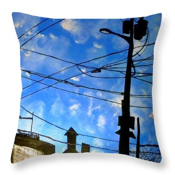 One Philly Sky Throw Pillow