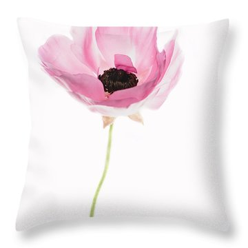 One Pink Beauty Throw Pillow