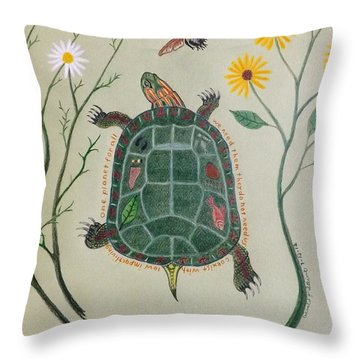 One Planet For All Throw Pillow