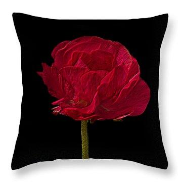 One Red Flower Tee Shirt Throw Pillow