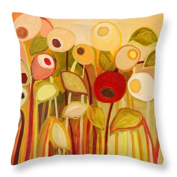 One Red Posie Throw Pillow