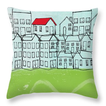 One Red Roof Throw Pillow