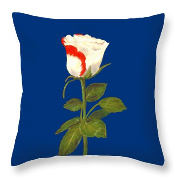 Throw Pillow featuring the pastel One Rose by Anastasiya Malakhova