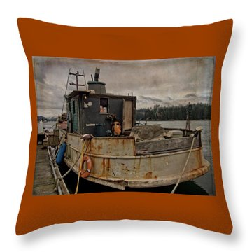 Throw Pillow featuring the photograph One Salty Dog by Thom Zehrfeld