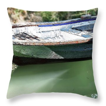 One Small Boat Throw Pillow by Svetlana Sewell