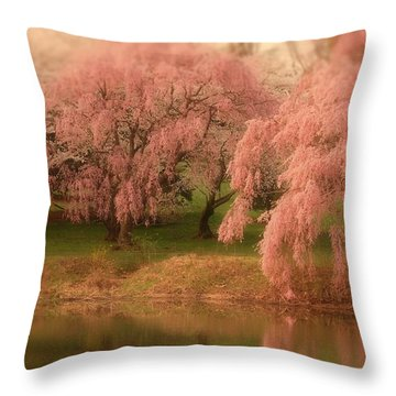 One Spring Day - Holmdel Park Throw Pillow