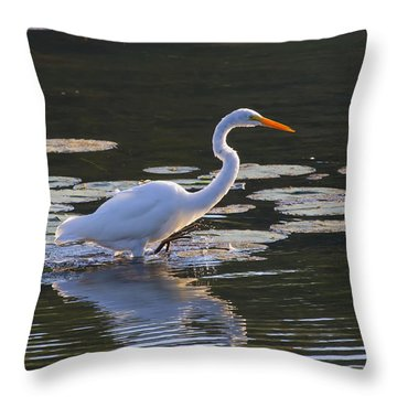 One Step More Throw Pillow