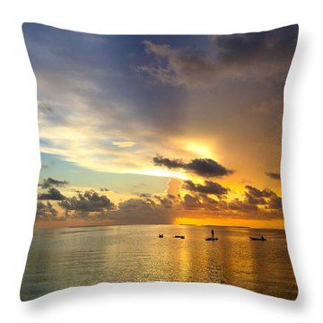 Throw Pillow featuring the photograph One Summer Night... by Melanie Moraga