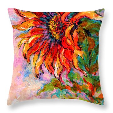 One Sunflower Throw Pillow