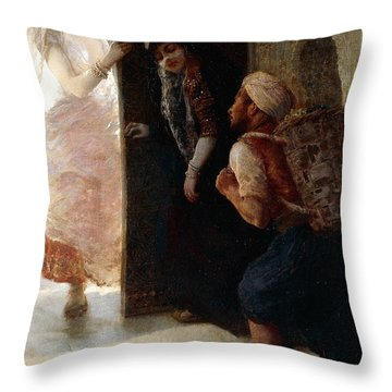 One Thousand And One Nights, The Porter Of Baghdad Throw Pillow
