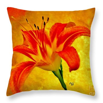 One Tigerlily Throw Pillow