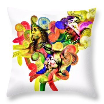 One United Throw Pillow by Mo T