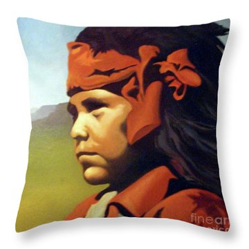 One Who Soars With The Hawk Throw Pillow