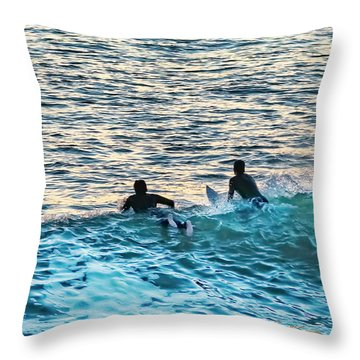 Throw Pillow featuring the photograph One With The Sun by Dan McGeorge