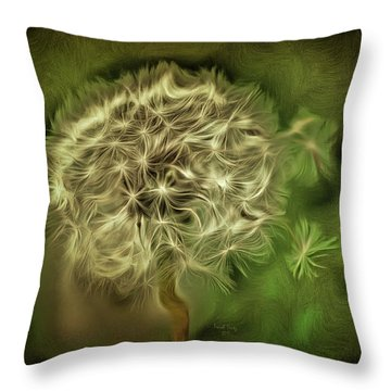 Throw Pillow featuring the mixed media One Woman's Wish by Trish Tritz