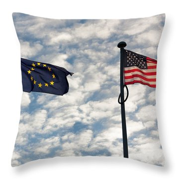 One World Throw Pillow by Semmick Photo