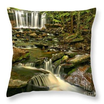 Oneida Falls Landscape Throw Pillow