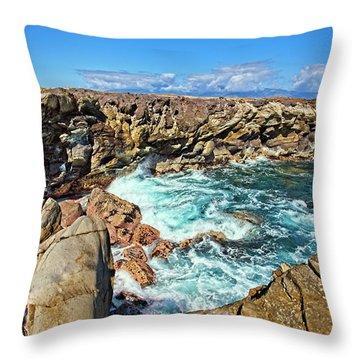 Oneloa-honokahua Bay Throw Pillow by Marcia Colelli