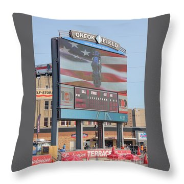 Oneok Field Throw Pillow